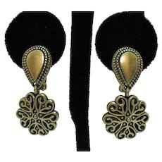 Signed Premier Designs Inc Vintage Convertible Pierced or Clip Earrings