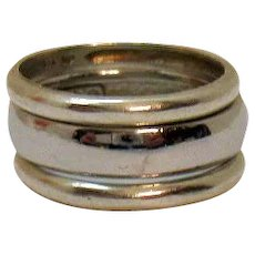 Vintage 925 Sterling Silver Set of 3 Stackable Band Rings Free Shipping