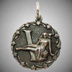 Signed Bell Trading Company Repoussé American Indian Sterling Vintage Astrological Virgo Charm
