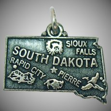Sterling Silver Signed Vintage Charm of South Dakota 1960s