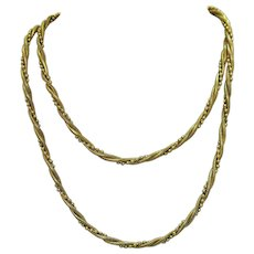 Signed Napier Vintage Twisted Snake Beaded Chain Necklace