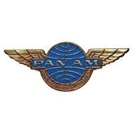 Vintage 1968 Pan Am Airlines Junior Clipper Stewardess Metal Wings Pin Badge