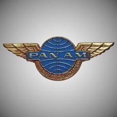 Vintage 1968 Pan Am Airlines Junior Clipper Stewardess Metal Wings Pin Badge