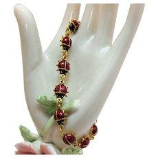 BOOK Vintage 'Lady Bug' 1997 Signed Avon Figural Bracelet
