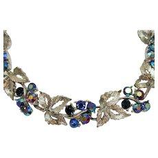 Signed Lisner Aurora Borealis Rhinestone Vintage Bracelet