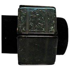 HUGE Vintage Black Confetti Lucite Stretch Bracelet 128.7 grams