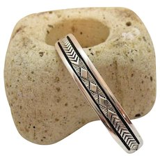 Signed Bruce Morgan Vintage Native American Indian Navajo Sterling Silver Cuff Bracelet 47.7 grams