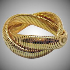 BOOK BOLD Vintage Divine Golden Woven Stretch Bracelet 120 Grams!
