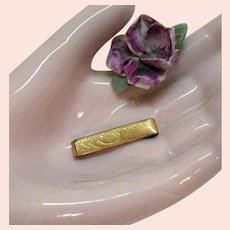 50% Off Dainty Victorian 8K Gold Baby Barrette Signet