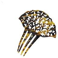 Antique Art Deco Large Faux Tortious Shell Celluloid Hair Comb