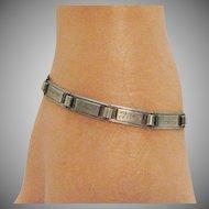 Rare Antique Signed Edwardian Bob O Link Sterling Silver Friendship Bracelet