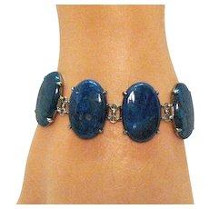 0b3e50284 50% Off March Only Scarce Antique Signed Wachenheimer Art Deco Sodalite  Sterling Silver Bracelet