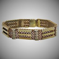 Unusual Art Deco Era Vintage Mesh Gold Tone Bracelet