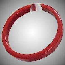 Vintage Bakelite Lip Stick Red Bangle Bracelet