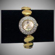 Elizabeth Taylor Vintage White Diamonds Bracelet Wrist Watch