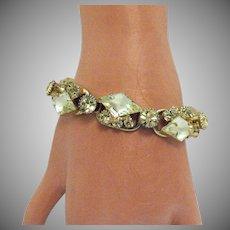Unusual Juliana D&E Delizza & Elster Vintage Jonquil Rhinestone Bracelet