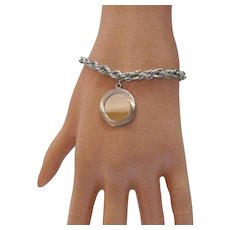 Signed Jostens Vintage Sterling Silver Charm Bracelet