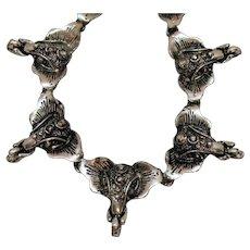 Amazing Vintage Figural Elephant Bracelet