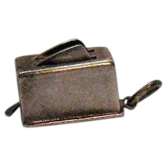 Vintage Sterling Silver Mechanical Toaster Charm with Pop up Bread
