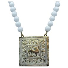 Signed Accessocraft NYC Vintage Mythical Beast Pendant Necklace FREE SHIPPING