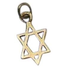Petite 14K Gold Jewish Star of David Vintage Charm or Pendant
