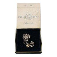 BOOK Signed Avon 1972 Pekinese Pin Unworn Original Box Slip Cover