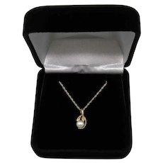 Gorgeous Classic Vintage Signed AF 14K Gold Cultured Pearl Necklace