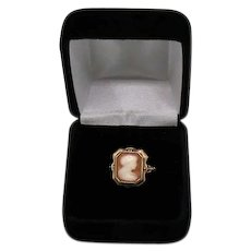 Gorgeous Signed 10K Gold TruArt Vintage 1940s Cameo Ring Size 5 ½ FREE SHIPPING
