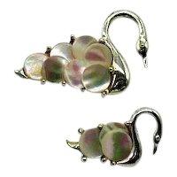 50% Off Wonderful Vintage Mother of Pearl Figural Swan Scatter Pins Brooch