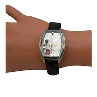 Collectible Vintage Walt Disney Special Edition 80 Year Anniversary Mickey Mouse Hologram Wrist Watch FREE SHIPPING AND INSURANCE WITHIN THE USA!!