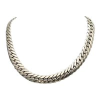Awesome Signed Coro Pegasus Heavy Silver Metal 1940s Vintage Choker Necklace FREE SHIPPING