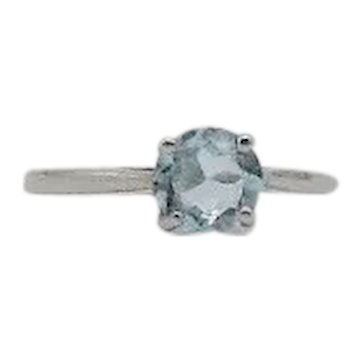 Gorgeous Vintage 925 Sterling Silver Blue Topaz Solitaire One Carat Unworn FREE SHIPPING
