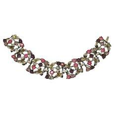 Gorgeous Signed Coro Early Vintage Rhinestone Bracelet FREE