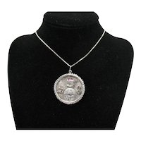 Fabulous Vintage Sterling Silver 925 Las Vegas Pendant Necklace Charm FREE SHIPPING