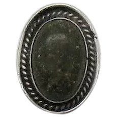 Vintage Native American Indian Natural Green Turquoise Ring Hand Crafted Sterling Silver Ring Size 6 FREE SHIPPING