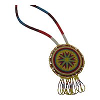 Beautiful Vintage Southwestern Native American Indian Ceremonial Necklace FREE SHIPPING