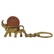Vintage Figural Good Luck Elephant 2000 Liberty Penny Key Chain