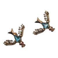 Unusual Vintage Rhinestone Figural Bird Scatter Pins Brooch FREE SHIPPING