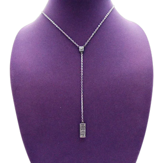 Signed Judith Jack Marcasite Vintage Sterling Silver 925 Art Deco Lavaliere Inspired Necklace FREE SHIPPING