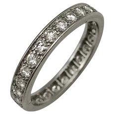 Platinum Antique Alliance with Diamonds / Vintage Alliance / Vintage Ring / Wedding Ring