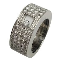 """CHOPARD Ring """"Happy Diamonds"""" / Branded Ring Chopard / French Ring / Diamond Ring / Movable Diamond"""