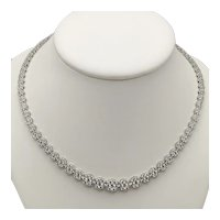 Diamond and 18k White Gold Necklace / Necklace Diamonds / Contemporary Necklace / Fine jewelry