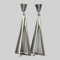 Galactic 1960s Space Age Sterling Earrings