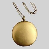 Pristine Antique Gold-Filled Locket with High Karat Bloom