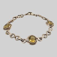 1940s Crisp Retro Gold-Filled Bracelet