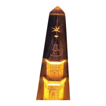 Russian Mid-century modernism 1960s architectural lamp night light