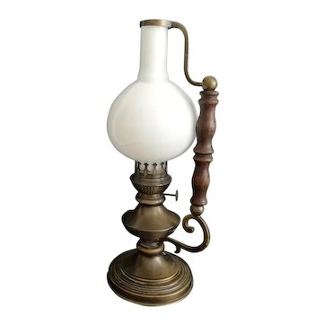 Vintage 1940s brass portable table lamp from Ministry of Foreign Affairs of France