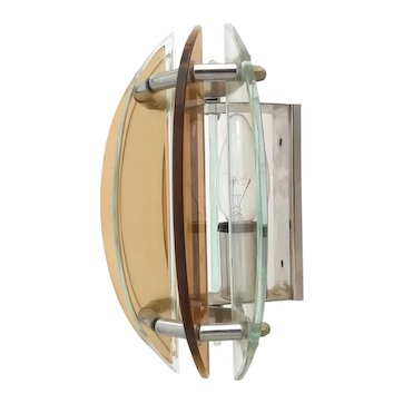 Vintage 1970s wall lamp sconce made of lucite