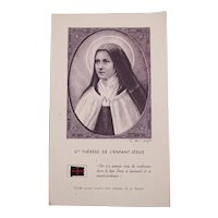 Authentic French catholic relic from Ste Thérèse de l'Enfant Jésus - Small piece of fabric 2/2