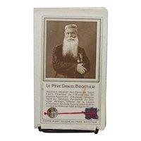 Authentic French catholic relic from Bien heureux Père Daniel Brottier - Piece of fabric